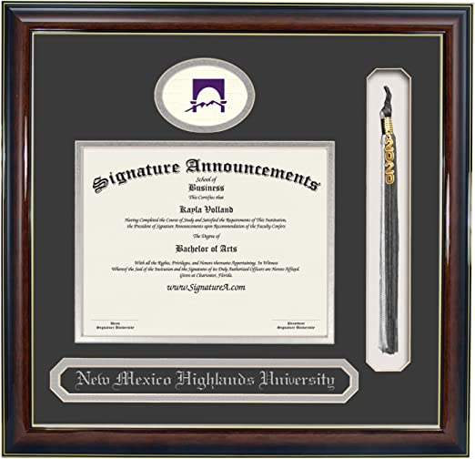 Signature Announcements Grand-Canyon-University-ROTC Undergraduate Name /& Tassel Graduation Diploma Frame 16 x 16 Gloss Mahogany with Gold Accent Professional//Doctor Sculpted Foil Seal