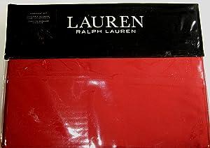 Lauren Ralph Lauren King Admiral Red Dunham Sateen Sheet Set