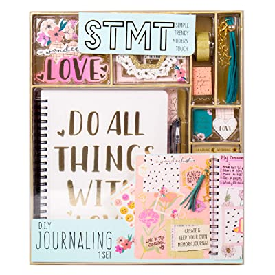 STMT 90824 DIY Journaling Set by Horizon Group USA, Personalize & Decorate Your Planner/Organizer/Diary with Stickers, Glitter Frames, Magnetic Bookmarks, Tassel Keychain & More. Pen Included: Toys & Games