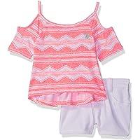 U.S. Polo Assn.. - Conjunto de Playera y pantalón Corto para niñas