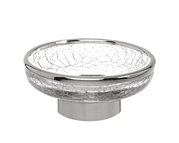 Amazon.com: Crackle Collection Counter Top Soap Holder/ Dish, Clear ...