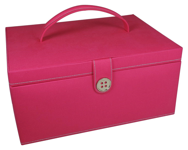 Button It Nähkasten, pink, Futter mit farbigem Muster, Large: Amazon ...