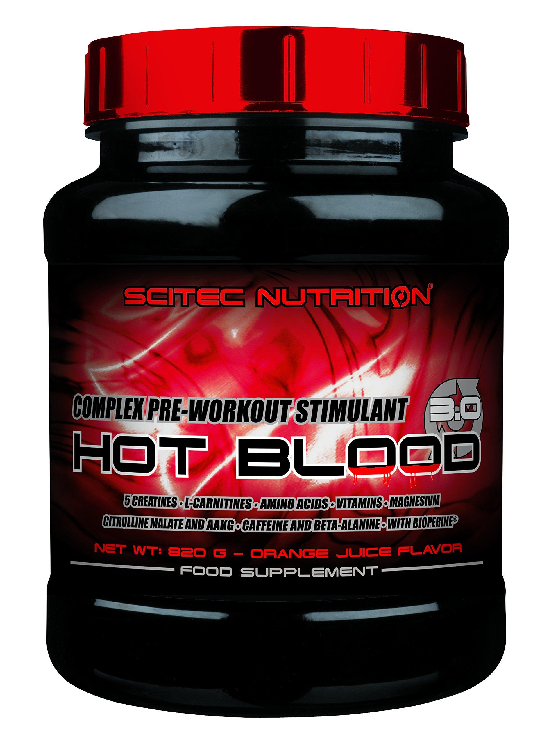 Scitec Nutrition Hot Blood 3.0 Orange Juice, 2.20 Pound