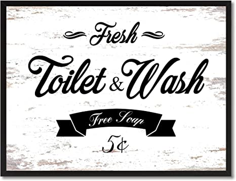 Wall Quote Print A4 Bathroom Funny Wash ya worries away Home Family Gift *3FOR2*