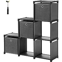 SONGMICS Estantería de Cubos, Librería de 6 Compartimentos