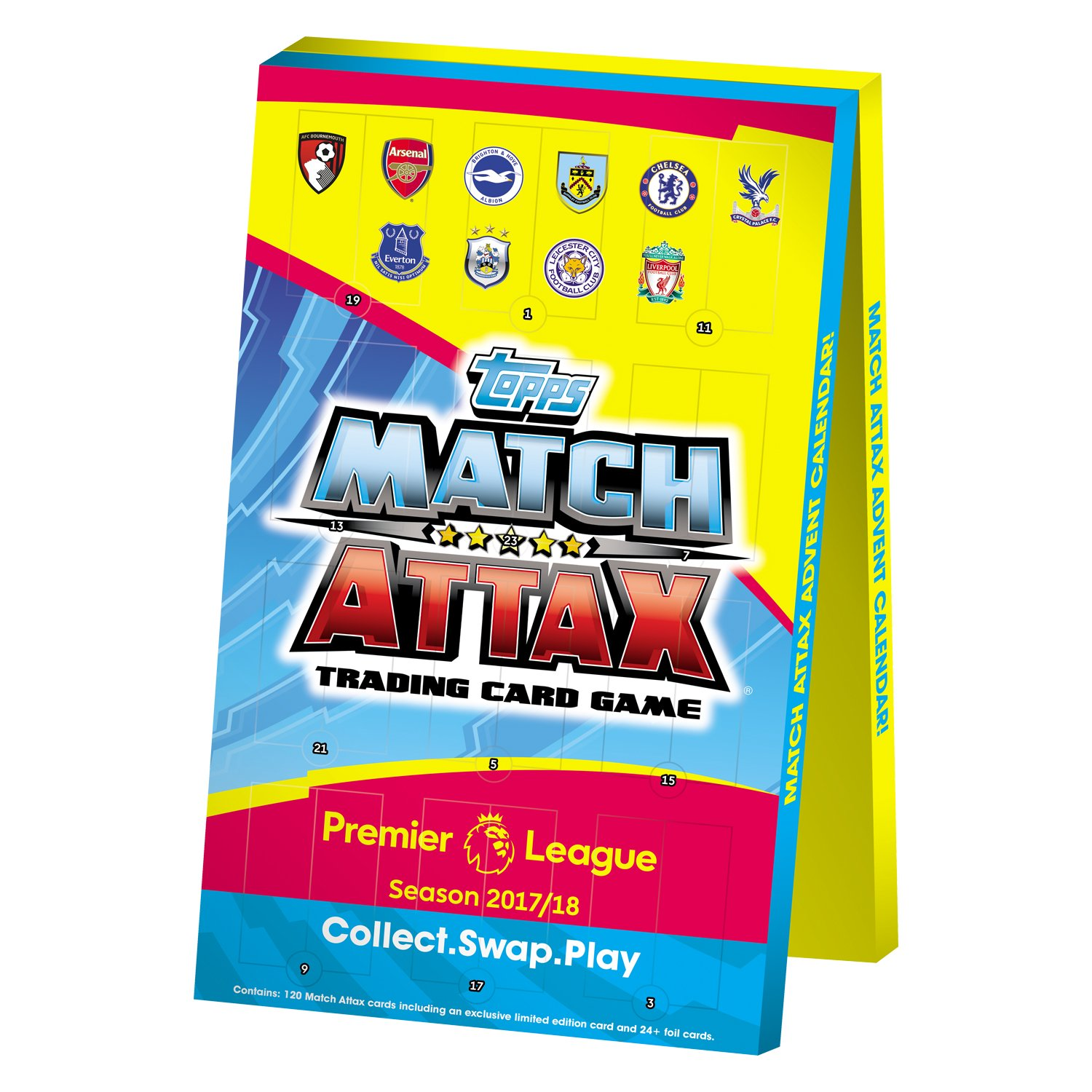 Match Attax Weihnachtskalender.Epl Match Attax 2017 18 Advent Calendar