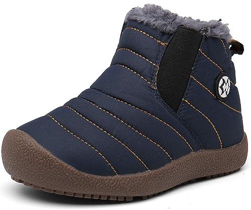 on sale 40049 f2b68 Gaatpot Kinder Winterschuhe Jungen Mädchen Schneestiefel Wasserdicht Warm  gefütterte Schlupfstiefel Winter Stiefel Sneaker Schuhe