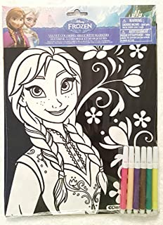 Amazon.com: Disney Frozen Elsa Velvet Coloring Sheet with 5 Markers ...