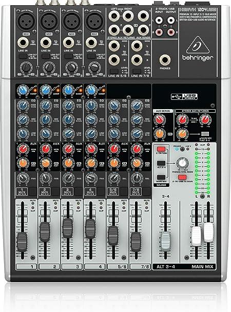 BEHRINGER XENYX 1204USB - Mesa de mezclas: Amazon.es: Instrumentos ...