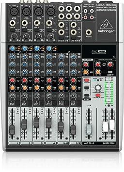 Behringer Xenyx 1204USB 12-Channel USB Mixer DJ Mixer at amazon
