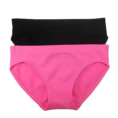 5e2496103d85b Amazon.com  Fruit of the Loom Big Girls  Seamless Bikini Brief (Pack ...
