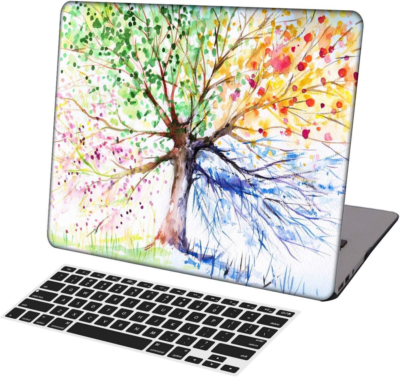 KSK KAISHEK Laptop Case for Older MacBook Pro 15 inch(2012-2015 Release,Retina Display,No DVD ROM/Touch Bar) Model A1398,Ultra Slim Light Hard Shell Keyboard Cover,Color Tree