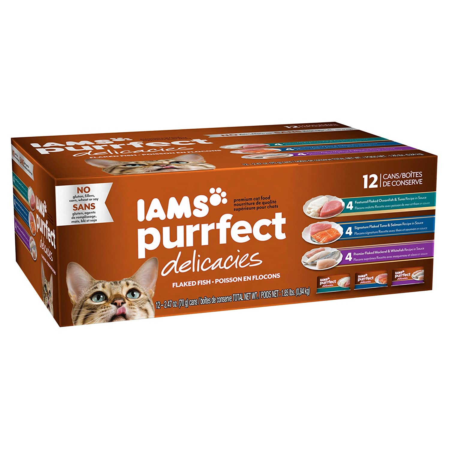 Amazon IAMS Purrfect Delicacies Flaked Adult Wet Cat Food