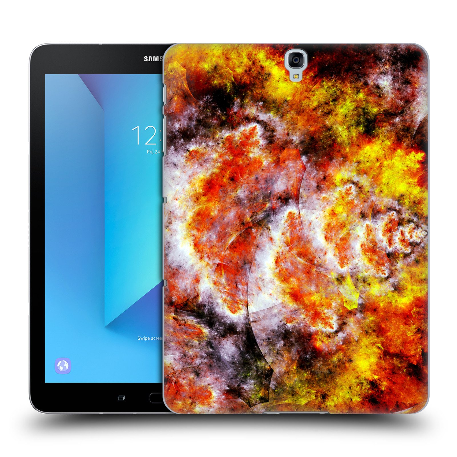 Official Andi GreyScale Torched Solar Flames Hard Back Case for Samsung Galaxy Tab S3 9.7