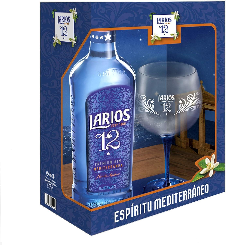 Larios 12 Ginebra Premium 40% + Pack Regalo Copa - 700 ml: Amazon ...