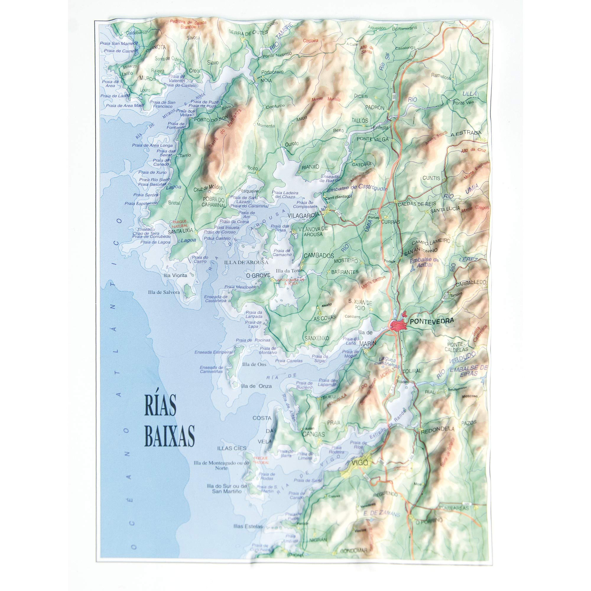 Mapa en relieve de Rias Baixas: Escala gráfica: Amazon.es: All 3D ...