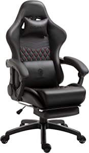 Dowinx Gaming Chair Office Chair PC Chair with Massage Lumbar Support