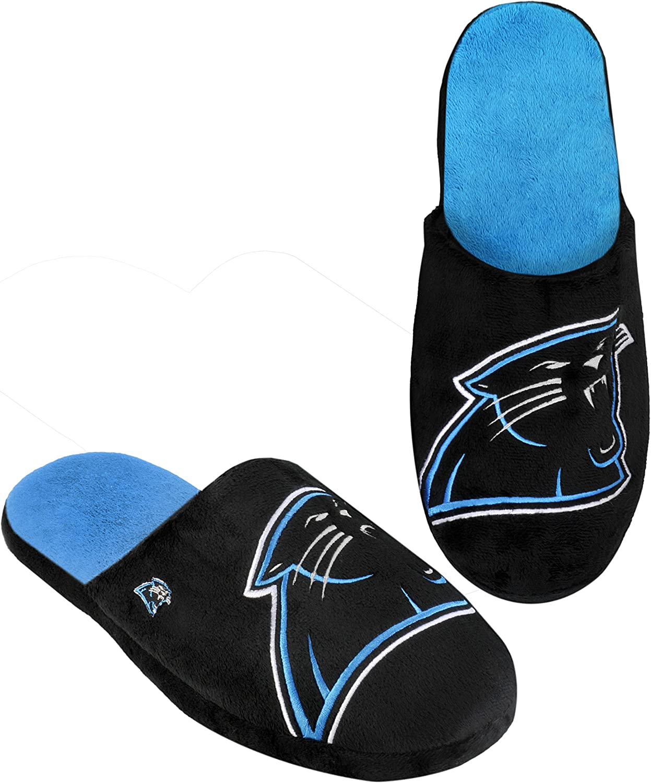 Carolina Panthers Split Color Slide Slipper Extra Large
