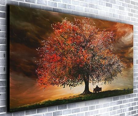 The Big Oak Tree Wall Décor Panoramic Canvas Wall Art Print Framed ...