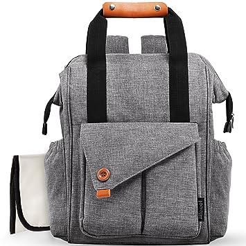 Amazon.com : Diaper Bag Baby Diaper Backpack Multi-function ...