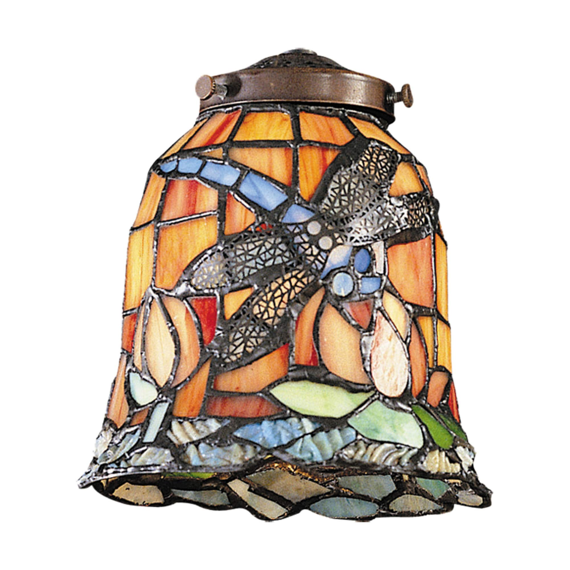 Landmark Lighting 999-12 Tiffany Single Replacement Shade from the Mix-N-Match Collection, Multi Colored Glass