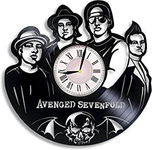 Avenged Sevenfold Music Vinyl Record Wall Clock, Avenged Sevenfold Gift for Any Occasion