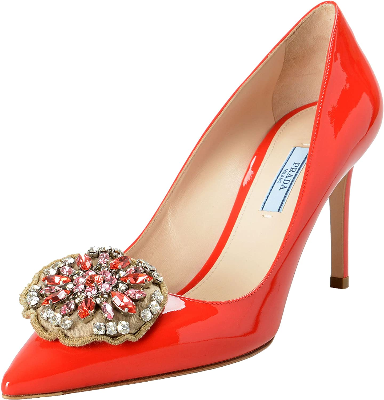 Prada Women's Red Patent Leather High