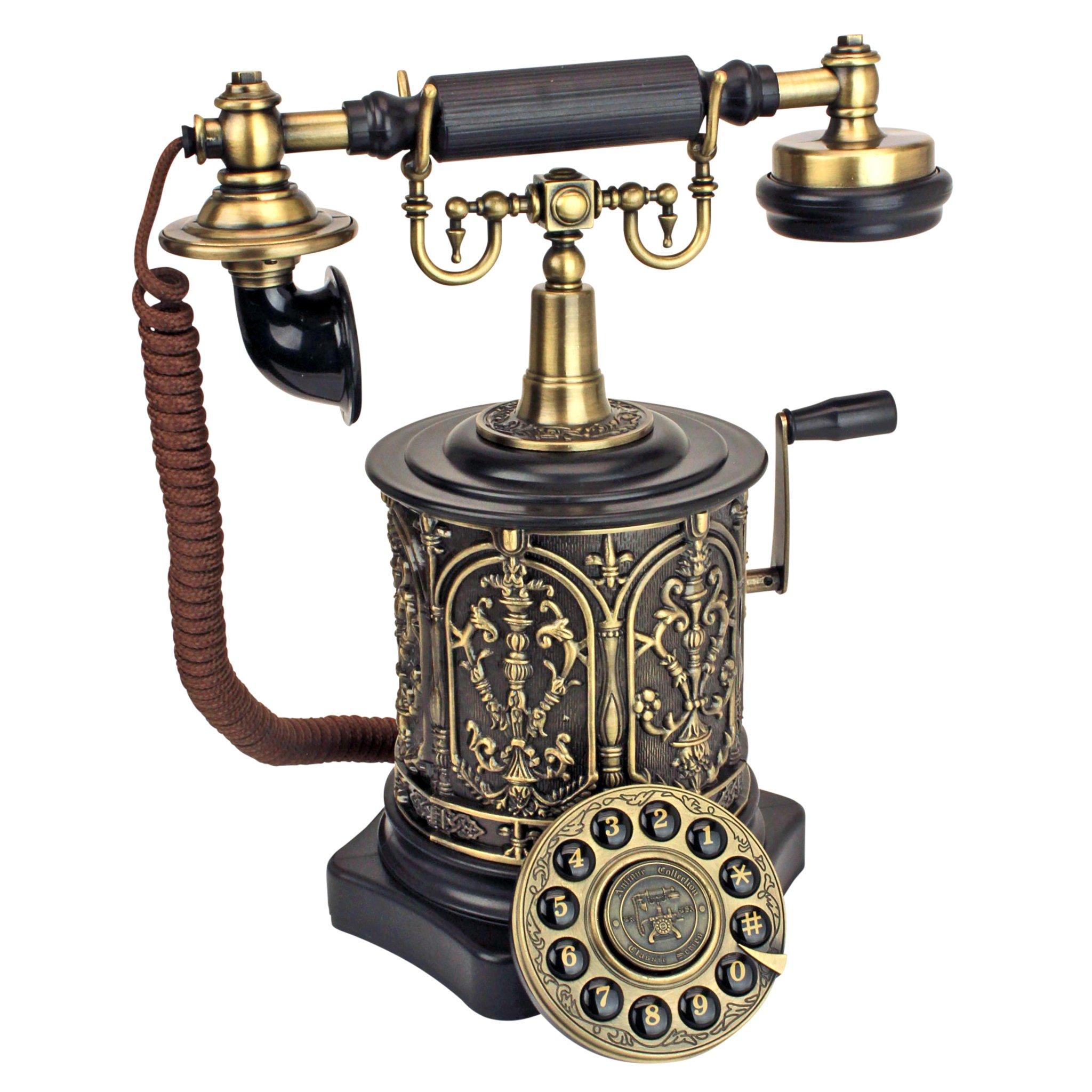 Design Toscano Antique Phone - The Swedish Royal Family 1893 Rotary Telephone - Corded Retro Phone - Vintage Decorative Telephones by Design Toscano