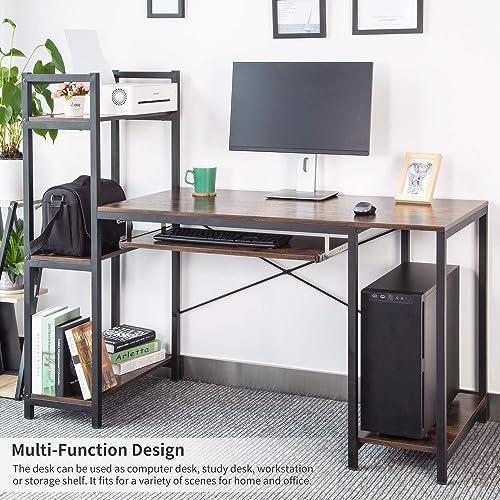 Editors' Choice: TOPSKY Computer Desk 59 Large Desktop Surface