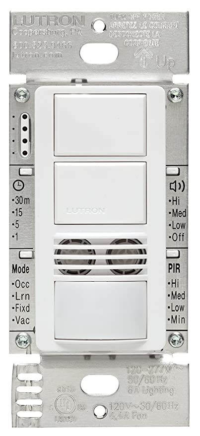 Lutron Maestro Dual Tech Dual Circuit Occupancy Sensor Switch ...