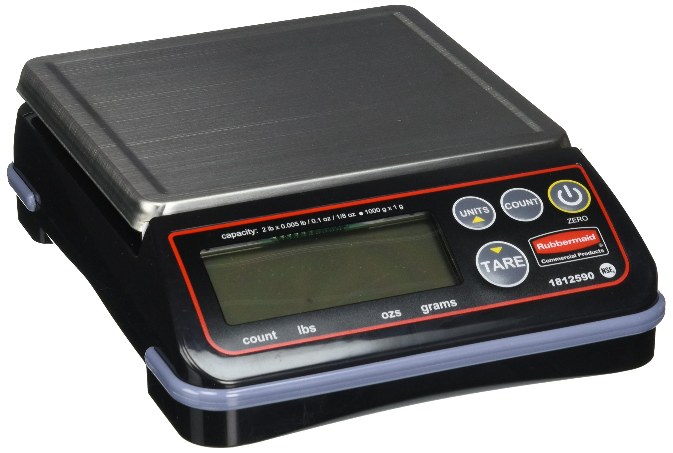 Rubbermaid Commercial Products 1812590 Full-Size Digital Scale for Foodservice Portion Control, 2 lb by Rubbermaid Commercial Products (Image #1)