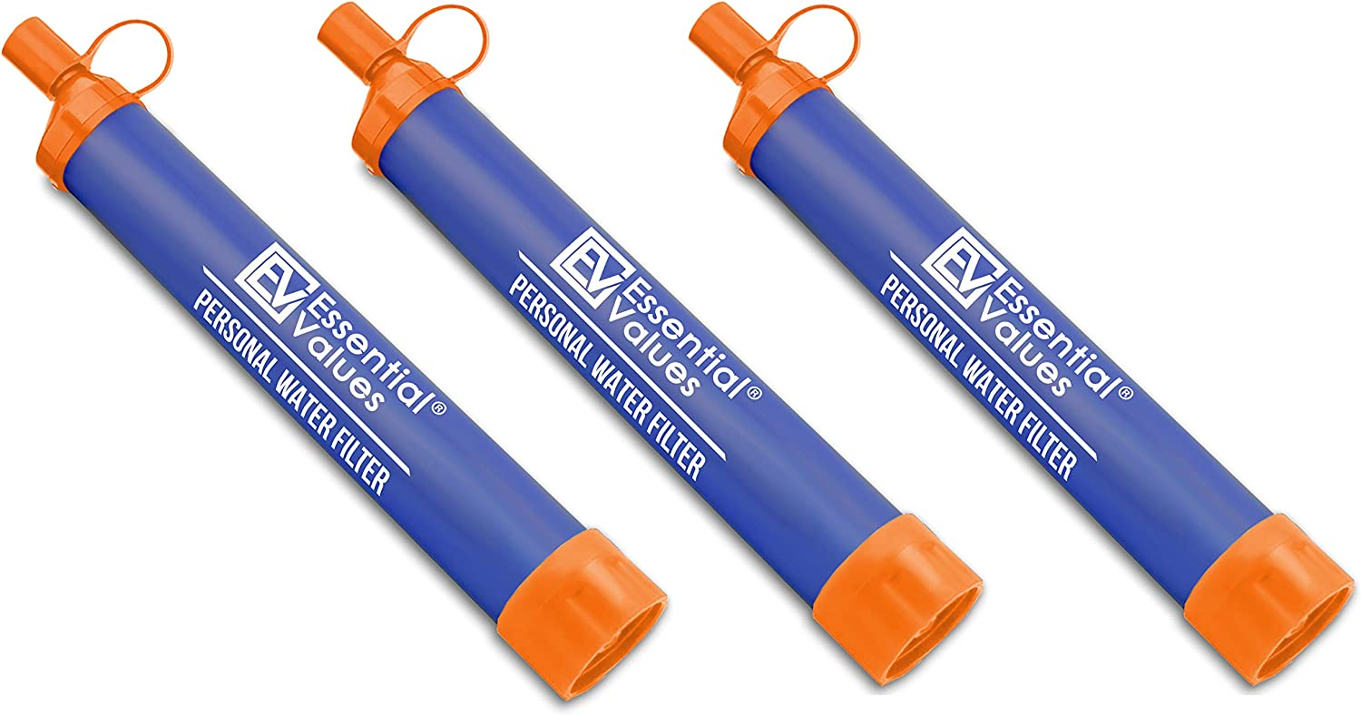 Perfectly Sized Water Straw with Bottle Attachment Technology Camping /& Emergency Water Survival Situations Excellent for Hiking Essential Value 3 Pack Personal Water Filter Backpacking