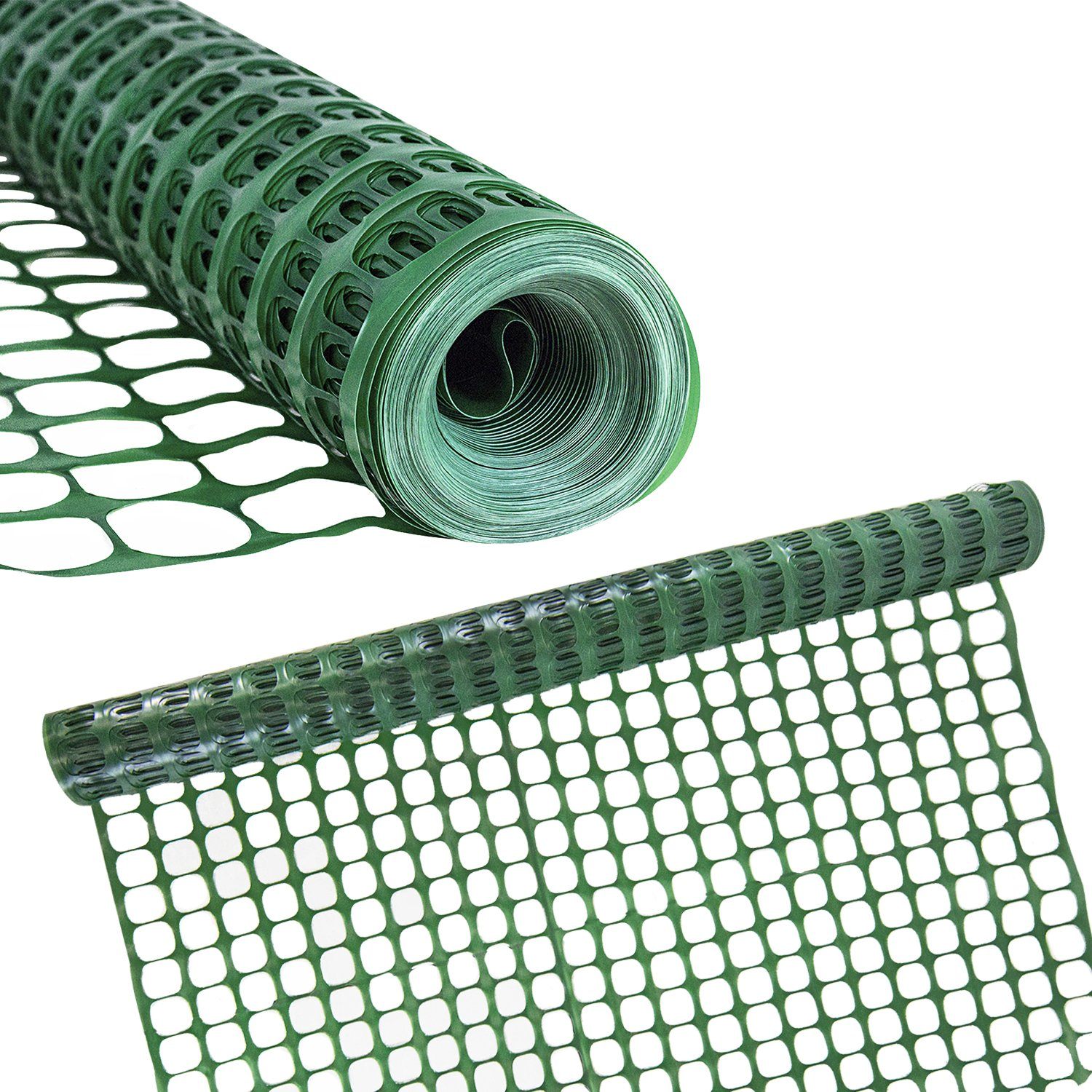 Houseables Temporary Fencing, Mesh Snow Fence, Plastic, Safety Garden Netting, Single, Green, 4 x 100' Feet, Above Ground Barrier, for Deer, Kids, Swimming Pool, Silt, Lawn, Rabbits, Poultry, Dogs by Houseables