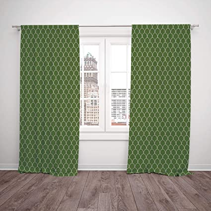 Amazon.com: SCOCICI Polyester Window Drapes Kitchen Curtains ...