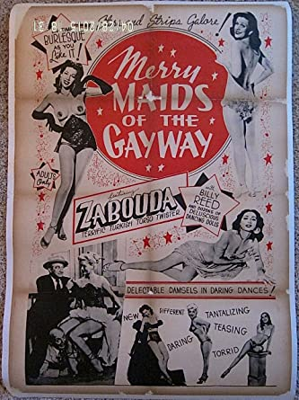 MERRY MAIDS OF THE GAY WAY '54 LB 1 SH POSTER BURLESQUE