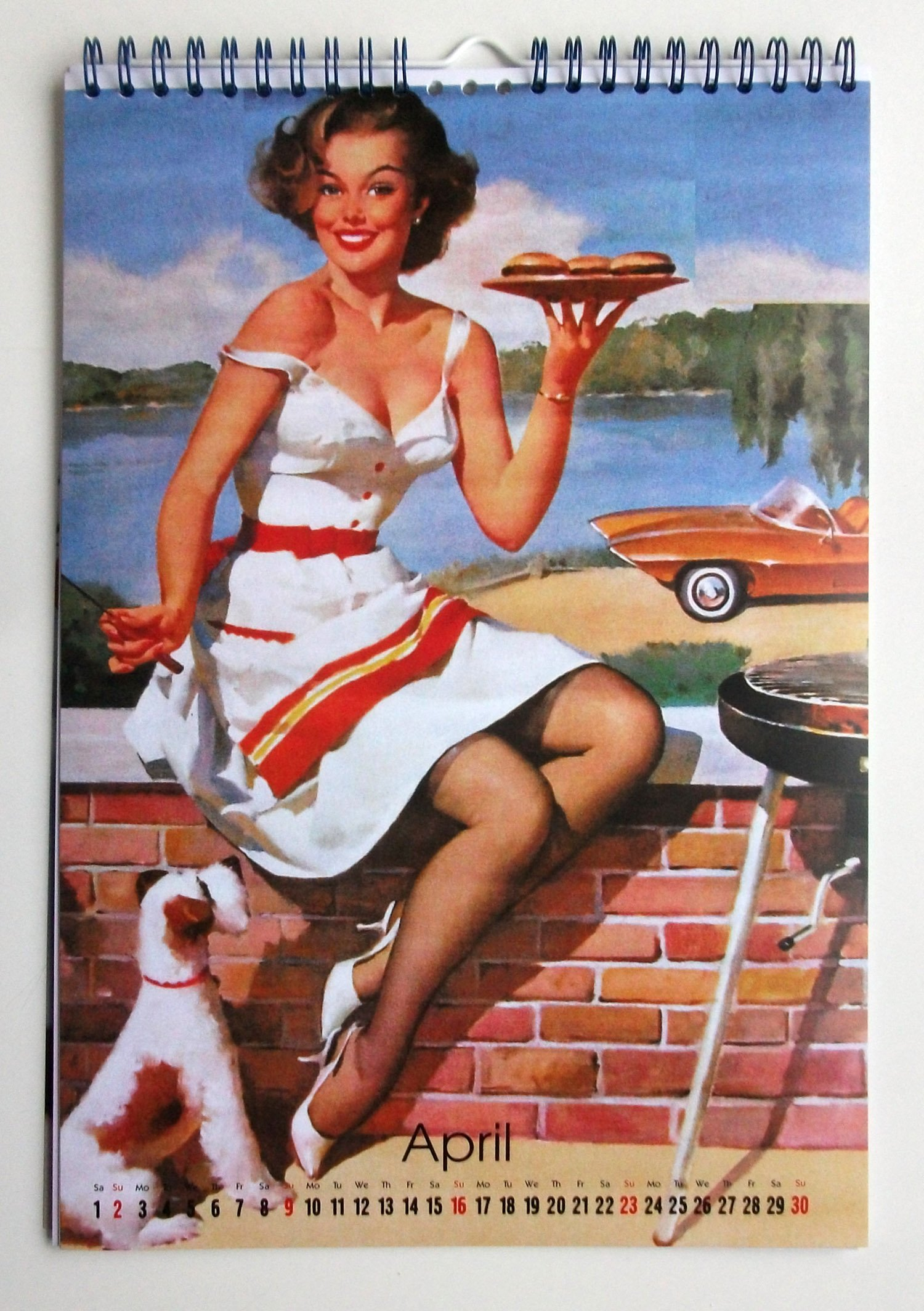 dfa788465a1 2019 Wall Calendar 12 pages 20x30cm Gil Elvgren Pinup Sexy Girls Vintage  Posters M538  Amazon.co.uk  Pixiluv  Books