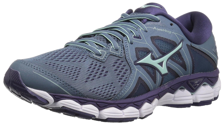 Mizuno Women's Wave Sky 2 Running Shoe B076YC2T8H 8 B(M) US|Blue Mirage/Purple Plumeria