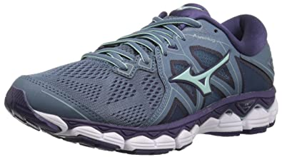 35fd09614385 Mizuno Women's Wave Sky 2 Running Shoe, Blue Mirage/Purple Plumeria, ...