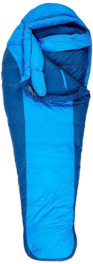 Marmot Saco de Dormir de Pluma Sawtooth -9°C 2016 Cobalt Blue Cremallera Izquierda: Amazon.es: Deportes y aire libre