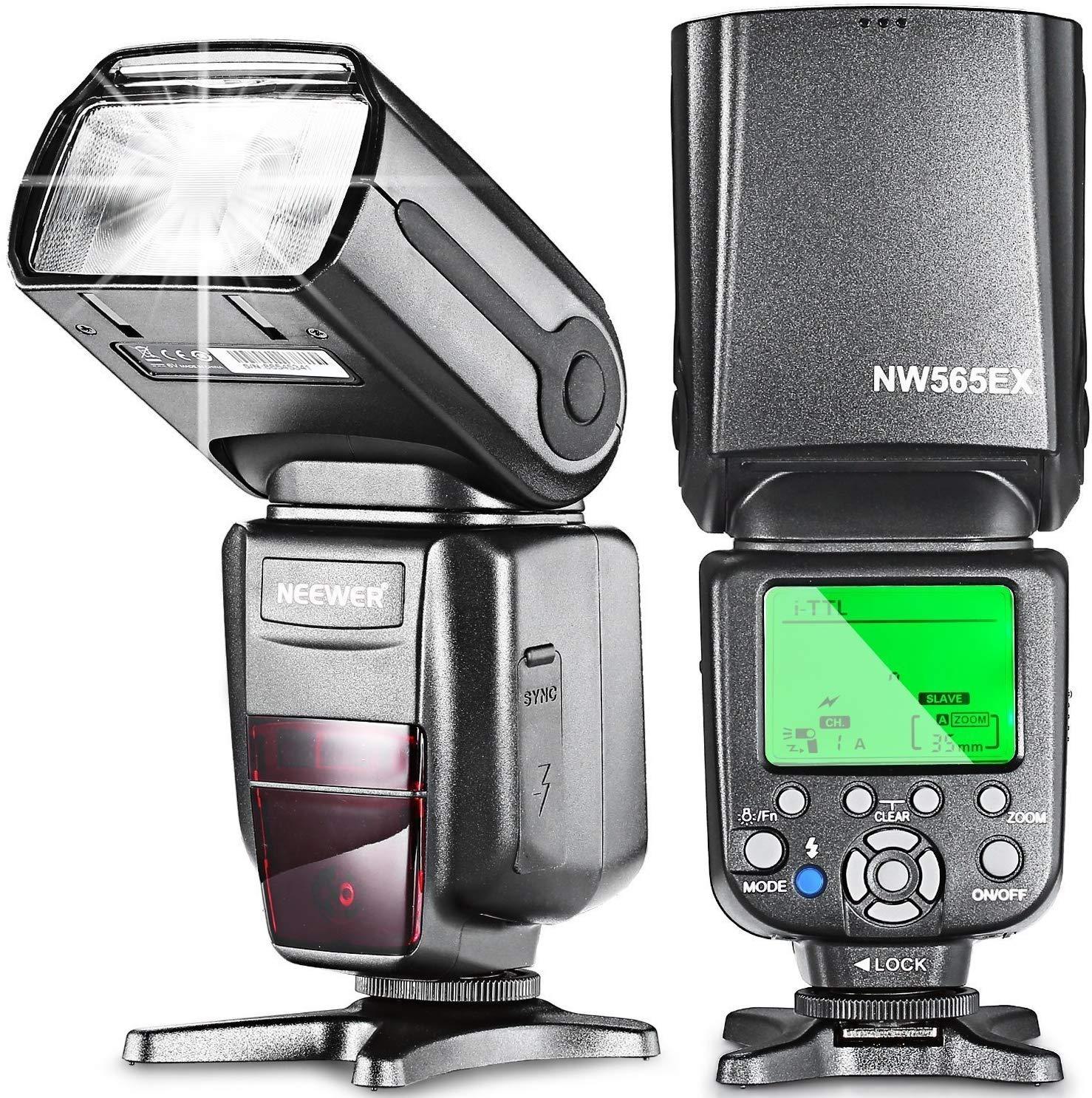 TALLA NW565N. Neewer NW565EX i-TTL Flash Esclavo Speedlite para Nikon D7200 D7100 D7000 D5500 D5300 D5200 D5100 D5000 D3300 D3200 D3100 D3000 D700 D600 D500 D90 D80 D70 D60 D50 y otros Nikon DSLR Cámaras