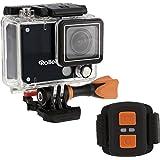 Rollei Actioncam 420 - Cámara deportiva, resolución de vídeo de 4K, WiFi, incluye control remoto y carcasa resistente al agua (40 m), color negro