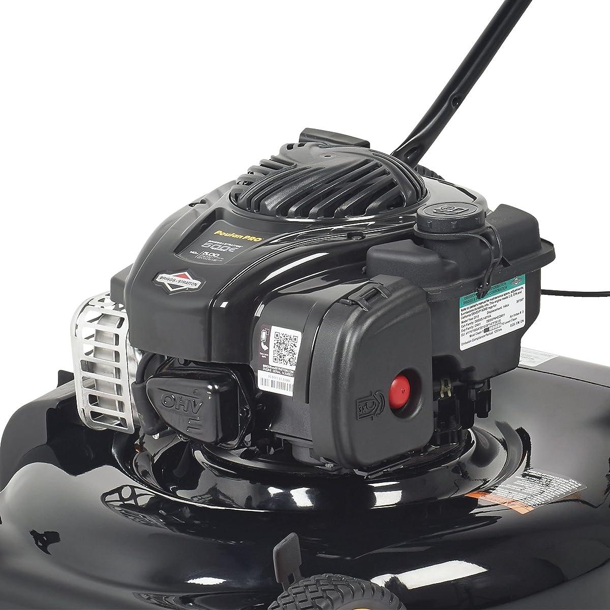 Poulan Pro 961120134 PR500N21SH Briggs 500ex Side Discharge/Mulch 2-in-1 Hi-Wheel Push Mower in 21-Inch Deck, 11-inch wheels