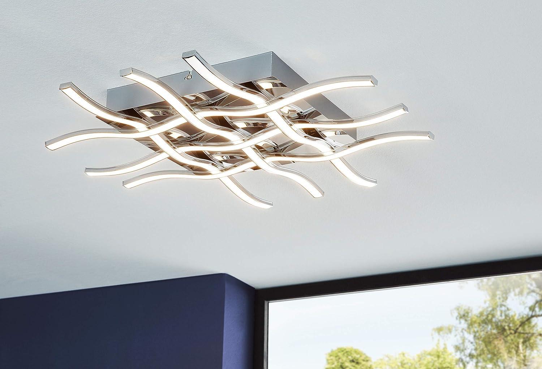 chrom Länge 50 cm Eglo LED Wand-//Deckenleuchte 95569 Lasana 1 1-flg
