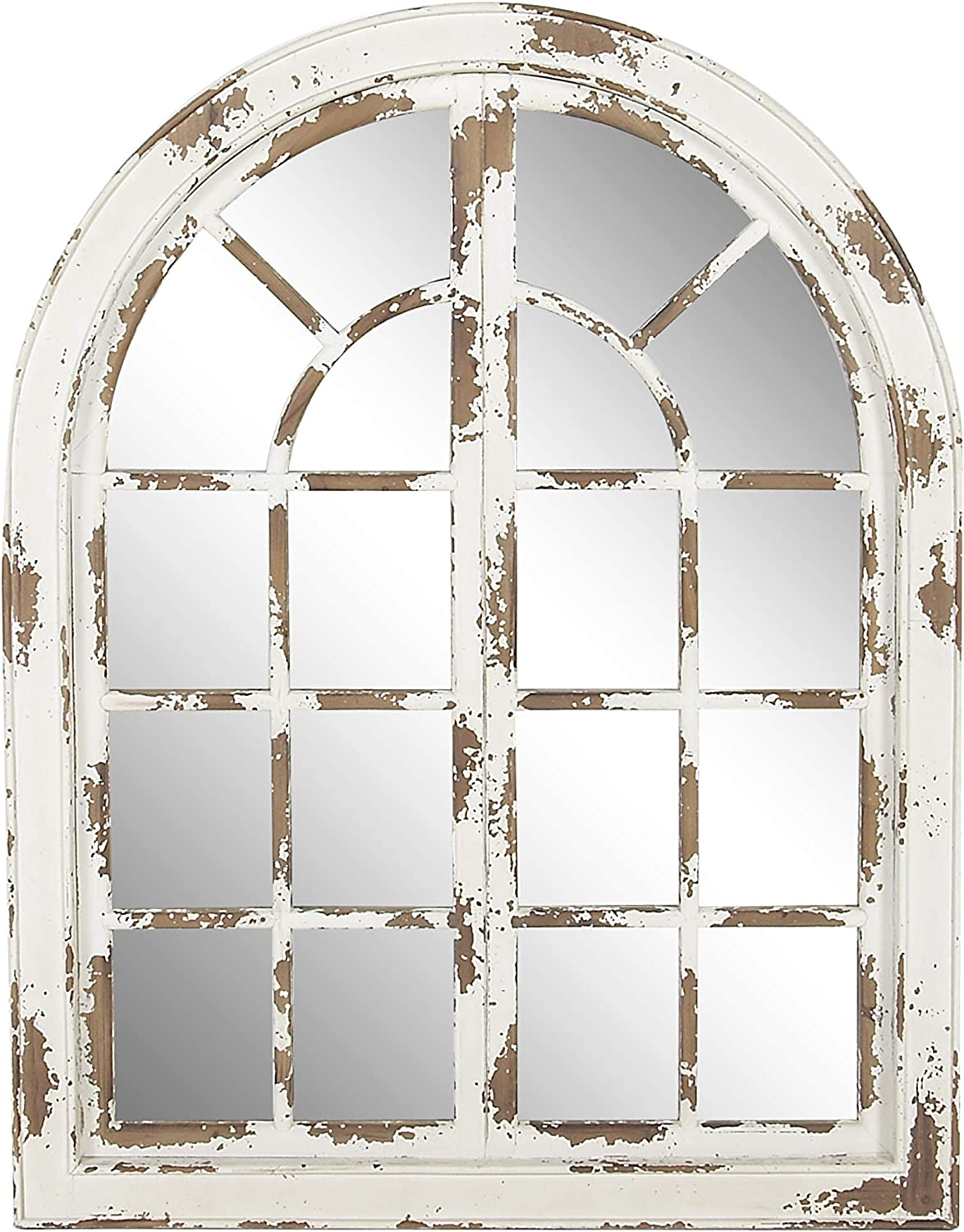 Deco 79 89365 Wall Mirror, Ivory/Brown