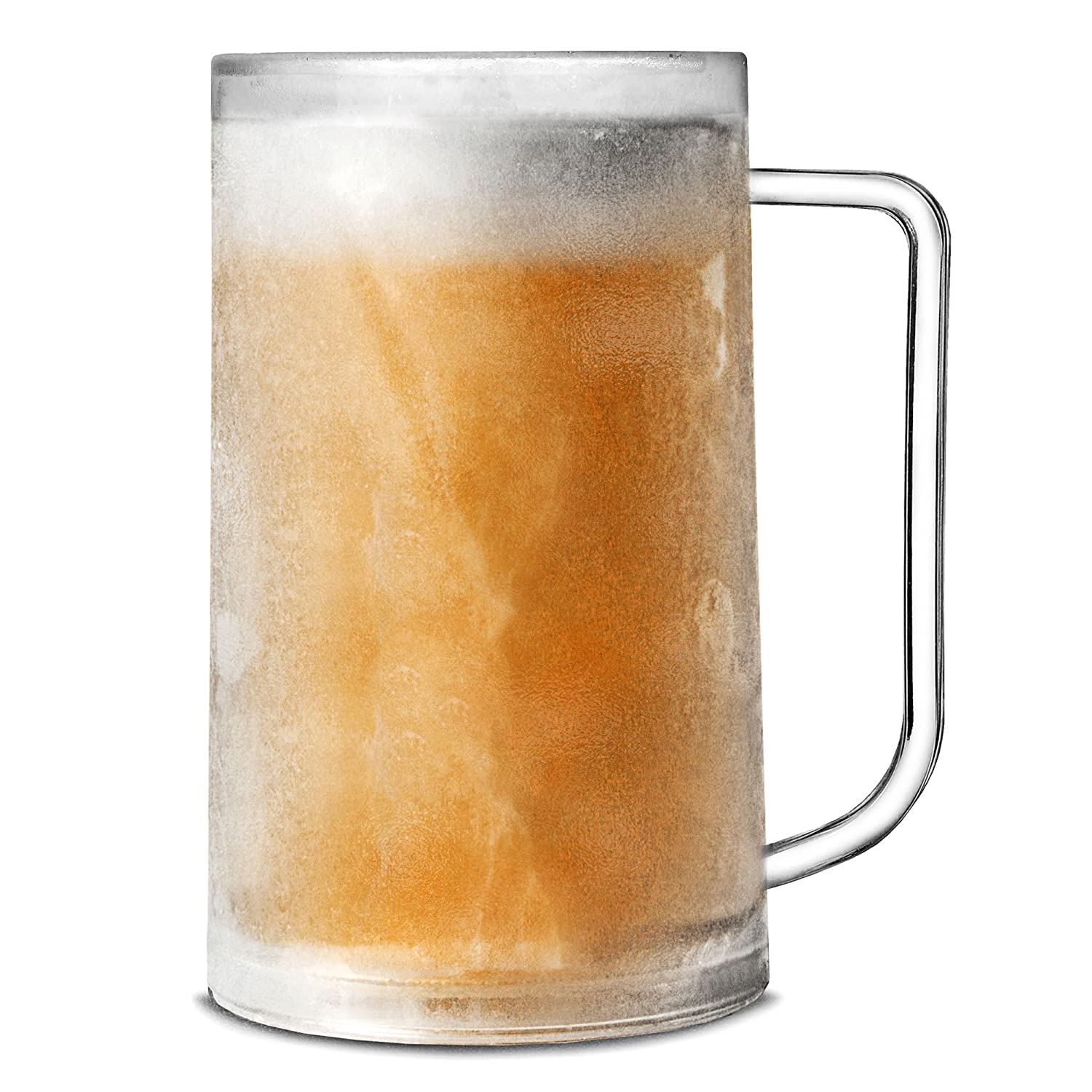 Frosty Mug 14.1oz/400ml by bar@drinkstuff | Plastic Freezer Mug, Beer Mug, Beer Stein, Beer Tankard | Freezable Beer Tankard