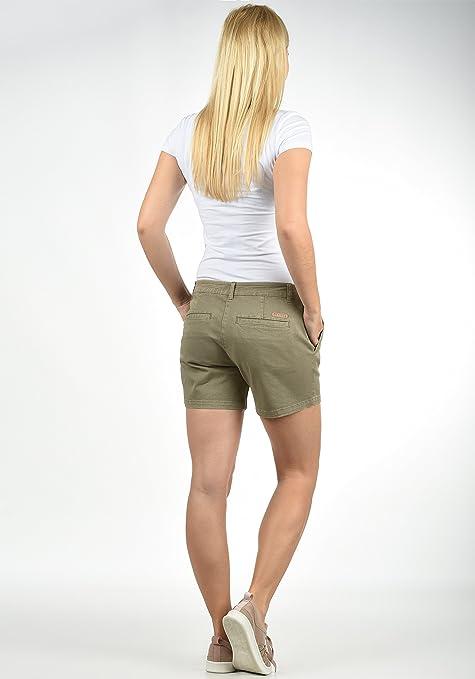 Desires Chanett Pantaloncini Chino Shorts Panno Corti da Donna con Cintura Elasticizzato