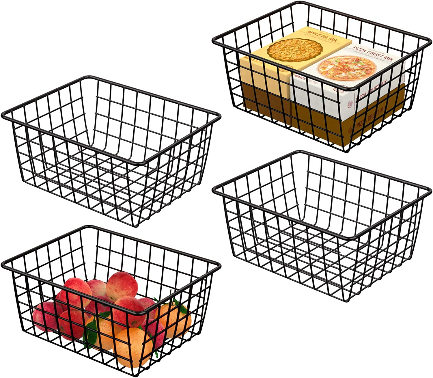 50% Off Coupon – 4 Pack Wire Baskets for Storage