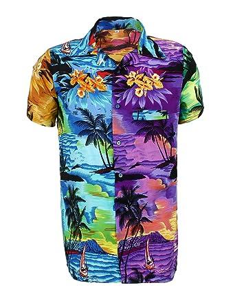 953a2d9c1 SAITARK Mens Hawaiian Shirt Stag Beach Hawaii Aloha Party Summer Holiday  Fancy Mix Beach Palm: Amazon.co.uk: Clothing