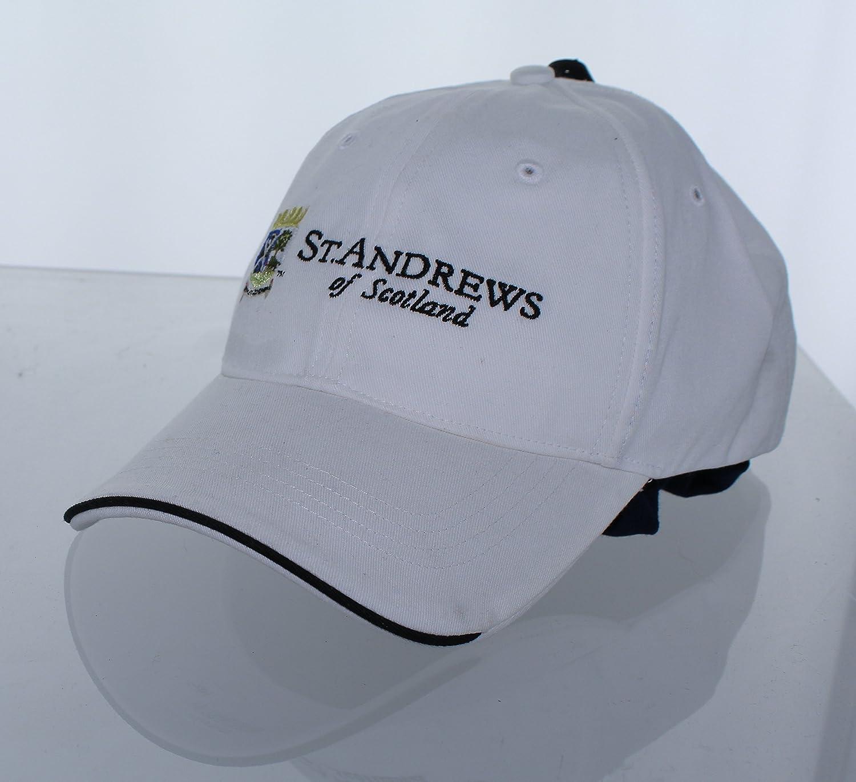 新しい。セントアンドリューススコットランドの調節可能なバックルバック帽子刺繍ゴルフキャップ – ホワイト   B01NBOIAXN