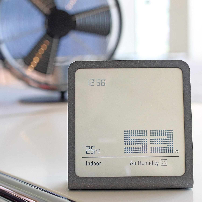 pr/äzises digitales Messger/ät f/ür Luftfeuchtigkeit und Temperatur Stadler Form Hygrometer Selina chili red